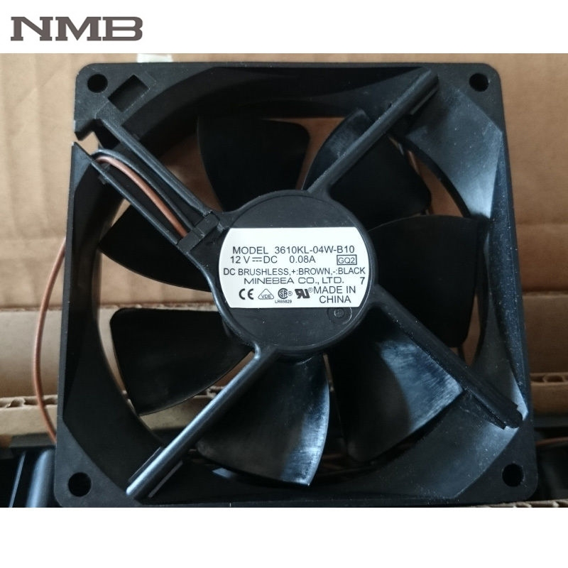 For <font><b>NMB</b></font> 9025 90mm 3610KL-04W-B10 <font><b>12V</b></font> <font><b>DC</b></font> 0.08A 2wire axial silent case Cooling <font><b>Fan</b></font> image