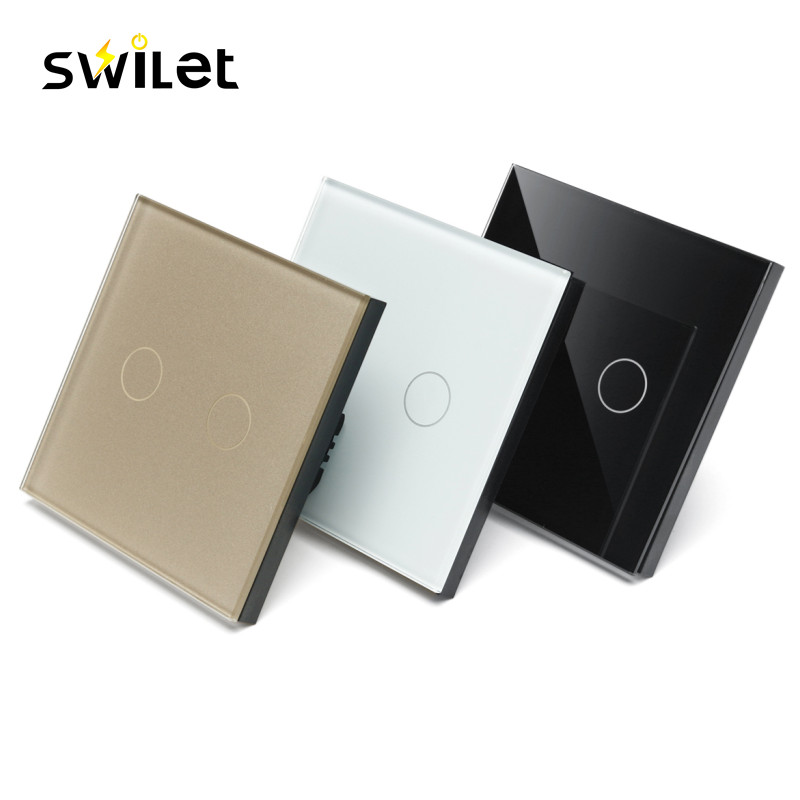 Swilet Type 86 Smart Wall Tact Switch Panel APP Remote Control Light Switch Waterproof Glass Panel Distance Control 4pc for skoda kodiaq glass lifting control switch panel protect decorative frame