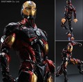 Play Arts Kai Iron Man Super Hero Age of Ultron Tony Stark Hulkbuster PA 27cm PVC Action Figure Doll Toys Kids Gift Brinquedos