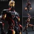 Play Arts Kai Iron Man superhéroe de mediana edad de Ultron Iron Man Tony Stark Hulkbuster PA 27 cm acción PVC Figure Doll Toys regalo de los cabritos Brinquedos