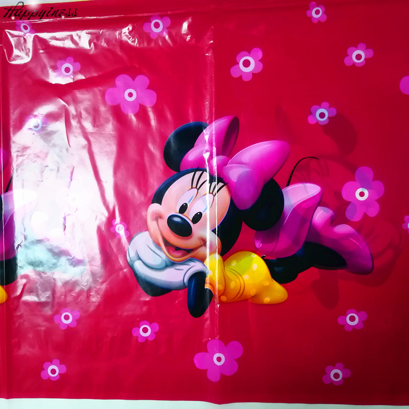 HOT Minnie Mouse Party Supplies Tablecloth Happy Birthday Decoration Baby Shower Theme Table Cloth 108x180cm 1 In Disposable Tableware