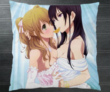 Anime Citrus Aihara Yuzu Aihara Mei Sexy Fanart 40*40cm Pillowcase Pillow Case Cover Otaku Manga Cosplay Gift BED/SOFA/CAR Decor(China)