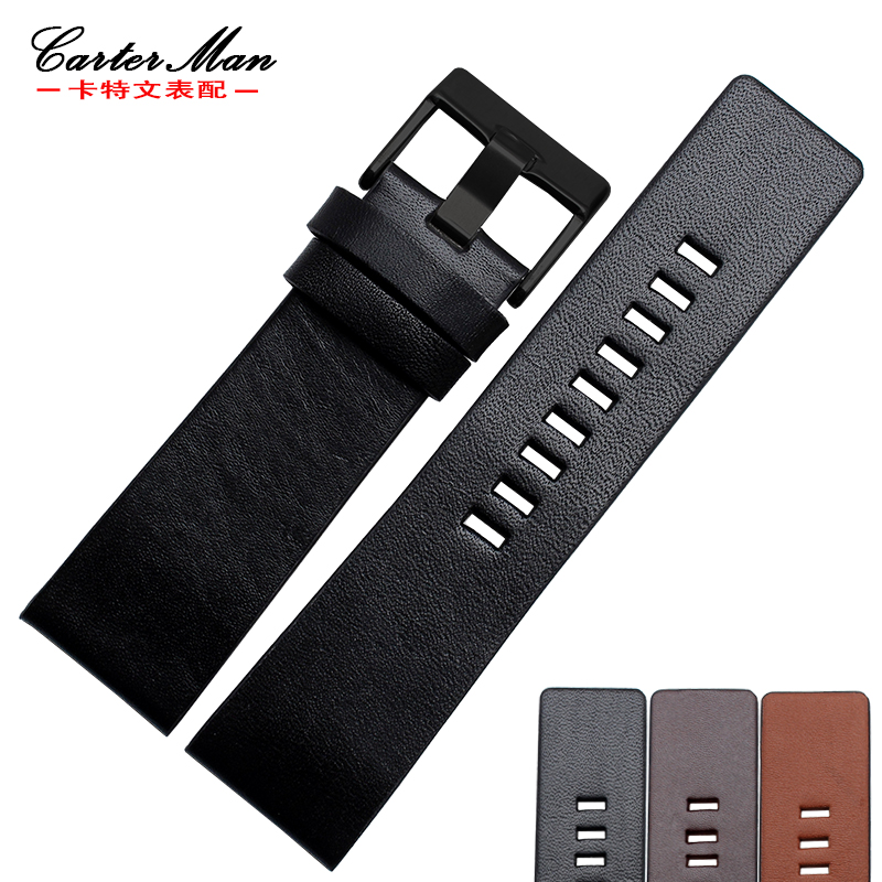 New Genuine Leather 22mm 24mm 26mm 28mm 30mm High Quality Watchband For DZ7313 DZ7322 Watch Bracelet