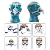 BMC NM2 Nasal Mask for CPAP Masks Interface Sleep Snore Respirator Strap with Headgear anti snoring