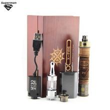 Alta Calidad e-fuego de Madera e cig kits mod de Voltaje Variable X fuego 2 Kit de Batería atomizador Vaporizador pluma e fire2 e incendios