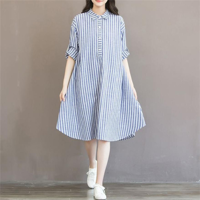 wholesale drop shipping Fashion Striped Dress Lining Dress For Pregnant Maternity Women Clothes Fashion casual S3JUN8