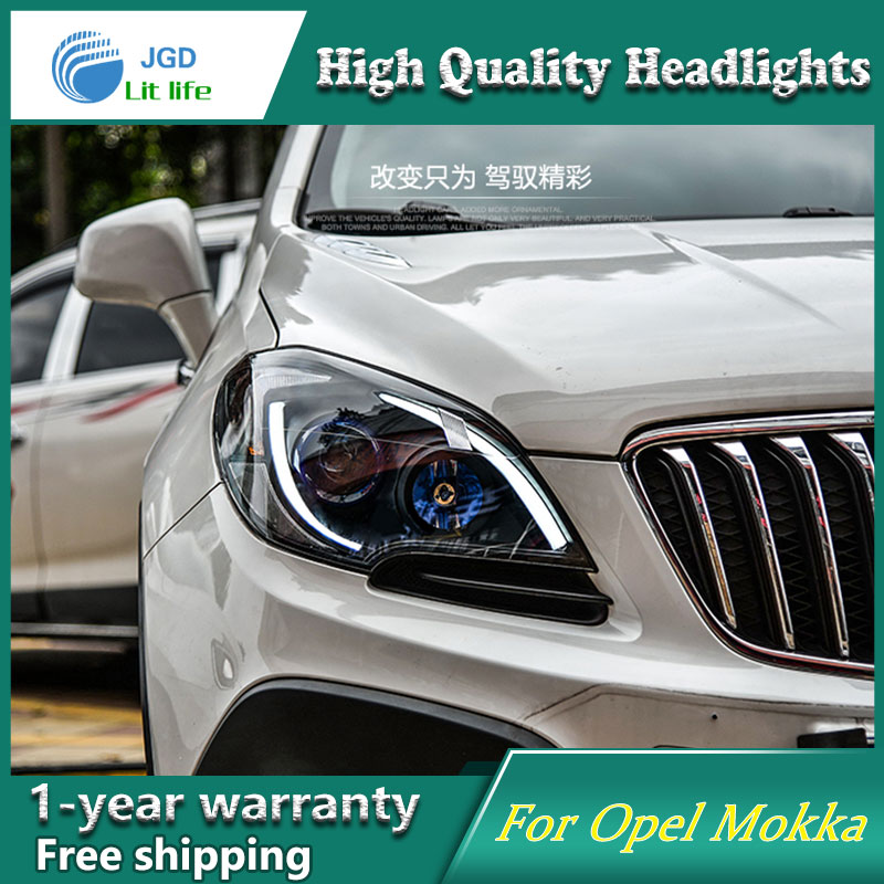 JGD Brand New Styling for Opel Mokka LED Headlight 2014-2016 Headlight Bi-Xenon Head Lamp LED DRL Car Lights jgd brand new styling for audi a3 led headlight 2008 2012 headlight bi xenon head lamp led drl car lights