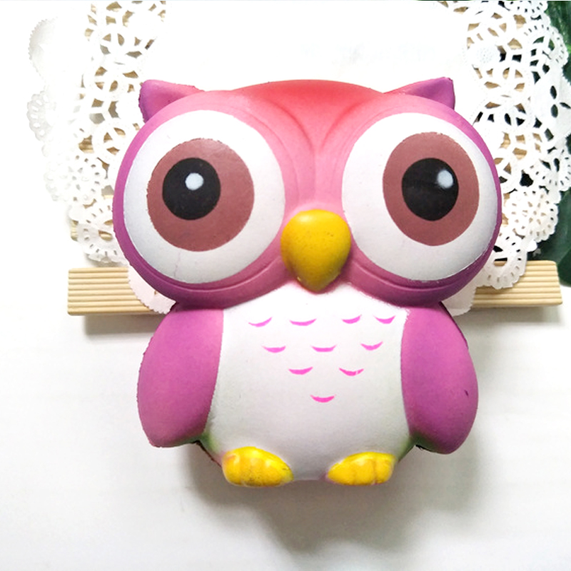 Big Eyes Cute Owl Squishy Kawaii Owl Doll Soft Slow Rising Pendant Anti-stress Stretchy Squeeze Kid Toys New Year Christmas Gift