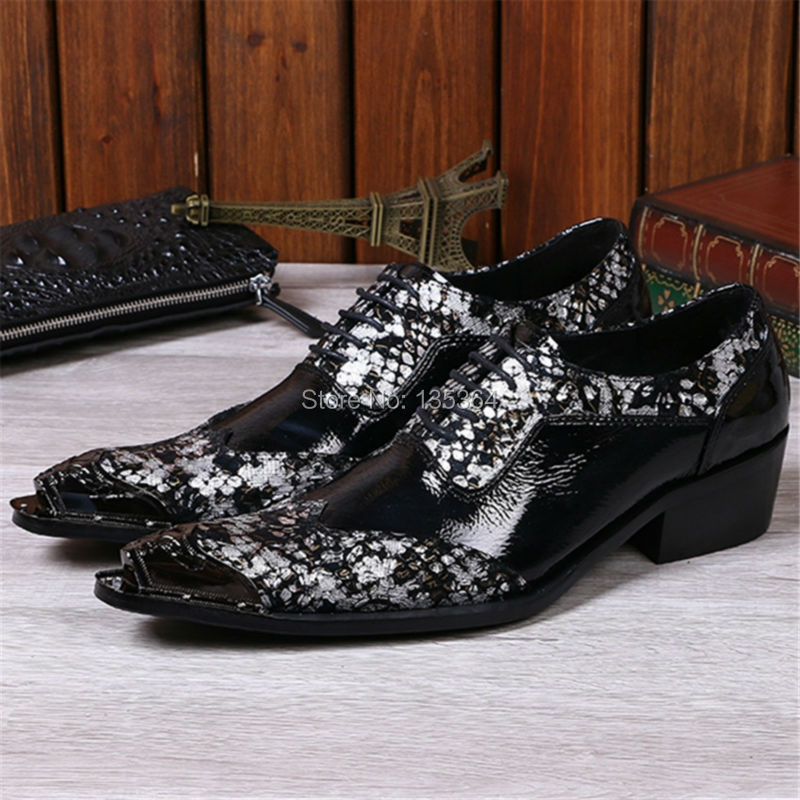 Fashion Ankle Boots Men Shoes Black Creepers Chaussure Homme Lace Up Leather Shoes Iron Pointed Toe Wedding Dress Oxfords Flats black fashion men metal pointed toe genuine leather oxfords mens wedding dress shoes lace up flat shoes chaussure homme creepers