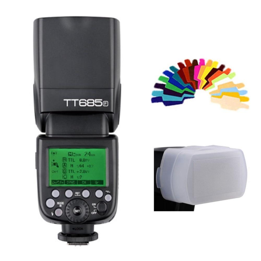 Godox tt685 flash TTL Камера flash Скорость lite Высокое Скорость 1/8000 s GN60 для Canon Nikon Sony Fuji olympus DSLR Камера