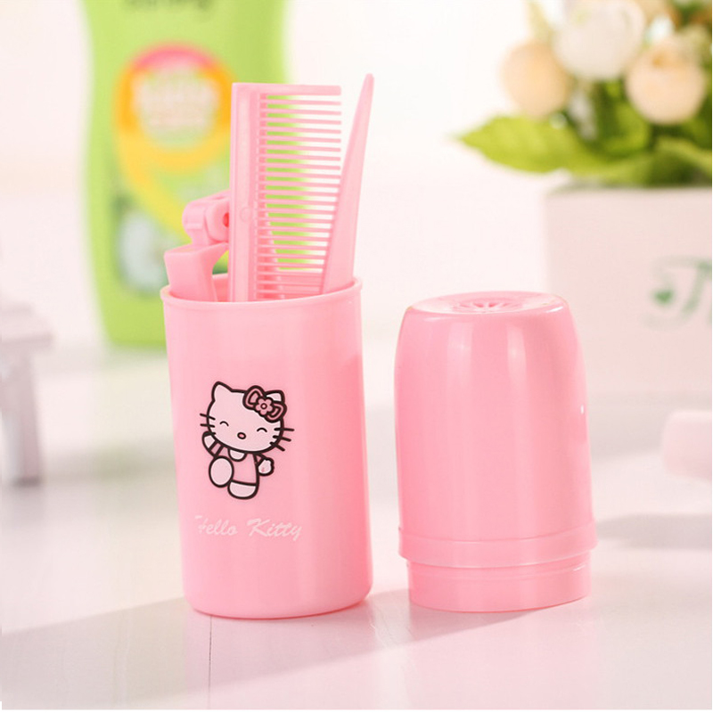 Hello Kitty Cartoon Bathroom Accessories Set Plastic Comb