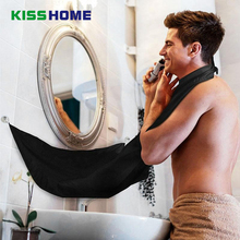 120x80cm Man Bathroom Apron Black Beard Hair Shave for Waterproof Floral Cloth Household Cleaning Protecter