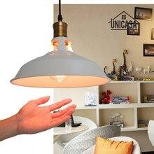 Vintage Industrail Pendant Light White Shade Metal Chandelier Lighting Kitchen Modern Ceiling Antique Lamp