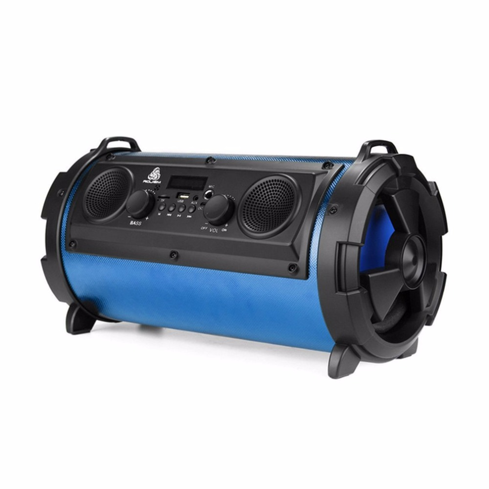 Outdoor Portable 15W Bluetooth Super Bass Multifunctional Wireless Speaker Subwoofer Stereo Soundbar AUX Support TF Card 20w portable wooden high power bluetooth speaker dancing loudspeaker wireless stereo super bass boombox radio receiver subwoofer