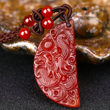 Lovers Pair Fine Jewelry Red Agate Necklace7