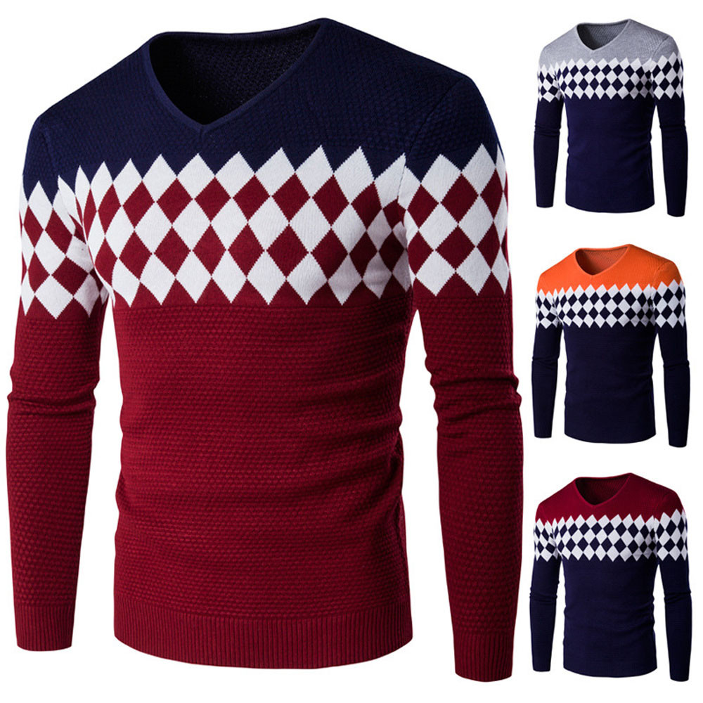 KLV 2018  Winter O Neck Knitted Pullover Sweaters Man,solid Green Grey 2 Color Clothing,Man's Casual Sweater St3