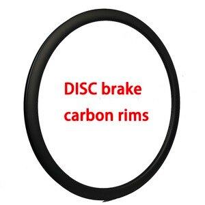 Disc brake Carbon rim 34/35/38/39/44/45/49/50/54/60/80mm depth 25mm 26mm 31mm width wheels 3K/UD Tubular/clincher/tubeless(China)