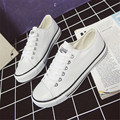 2017 cheap summer women canvas white low skater sneakers ladies flat walking shoes zapatillas deportivas mujer casual