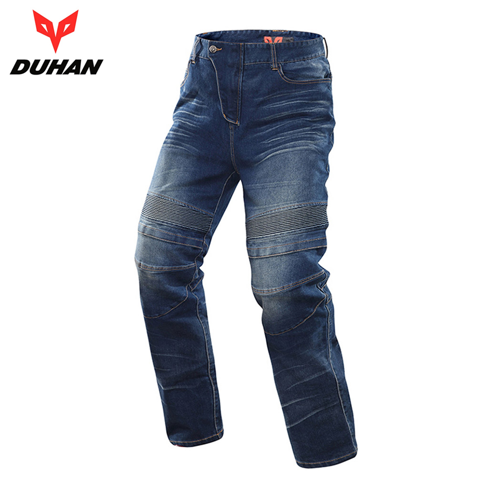 DUHAN Motorcycle Jeans Motocross Moto Pants Motorcycle Pants Protective Gear Jeans Trousers CE Certification Protectors for Men new hot sales mens jeans slim straight high quality jeans men pants hip hop biker punk rap jeans men spring skinny pants men