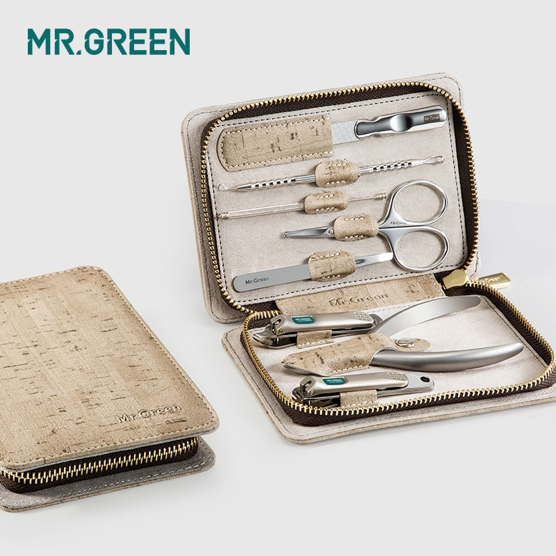 Image 2 - MR.GREEN 8 in one grooming kit Nail clipper set toe finger scissors set stainless steel nail cutter scissors manicure tools-in Sets & Kits from Beauty & Health