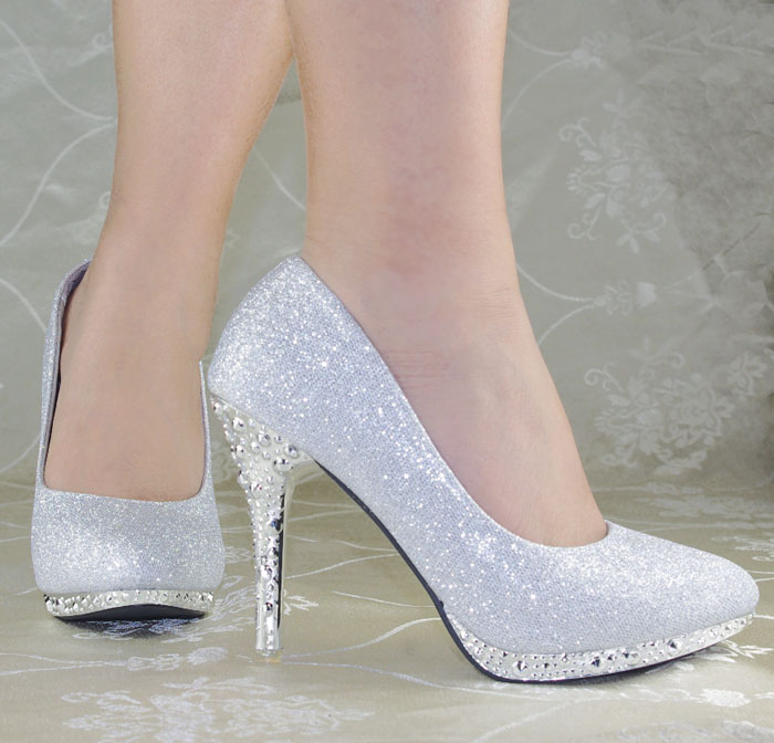 Aliexpress.com : Buy Shiny Fashion Women Plain Slip On Prom ...