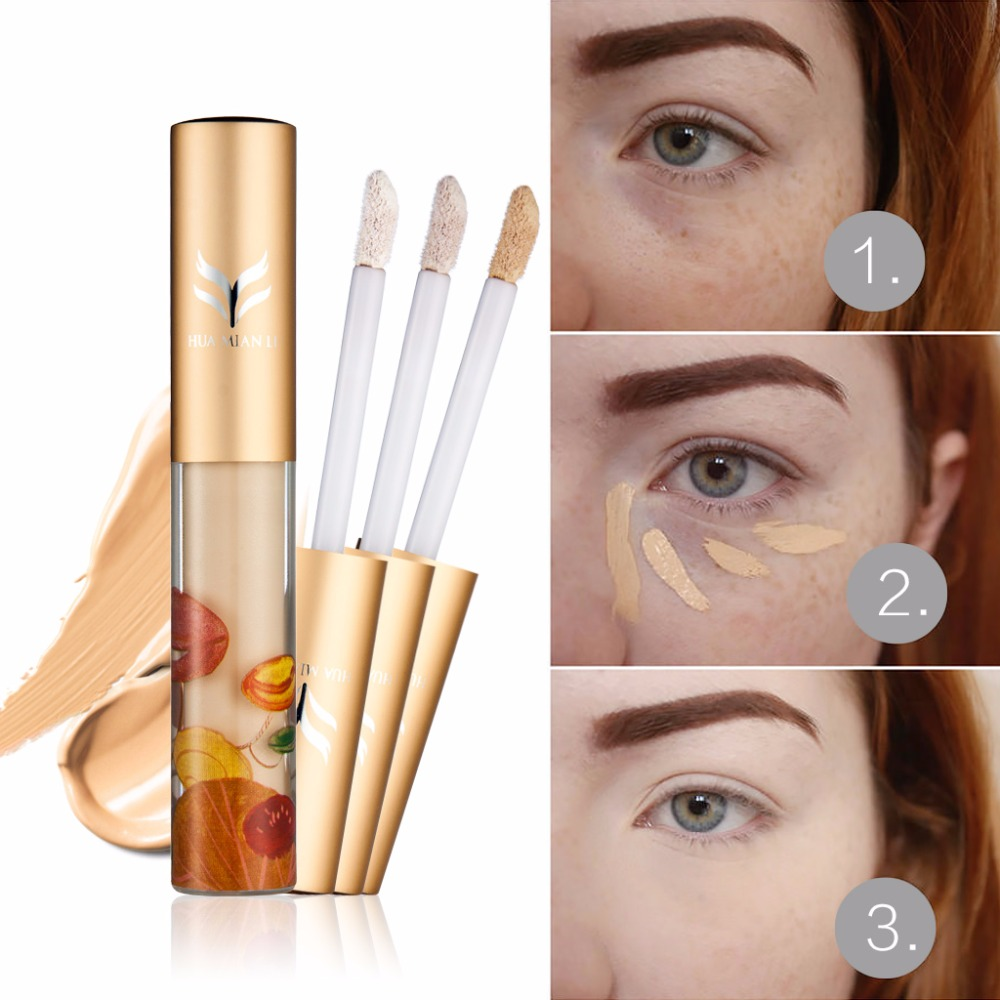 New Liquid Face Foundation Concealer Cream Cosmetics Whitening Corrector Bronzer Base Make Up Nude Hide Blemish Concealer Makeup