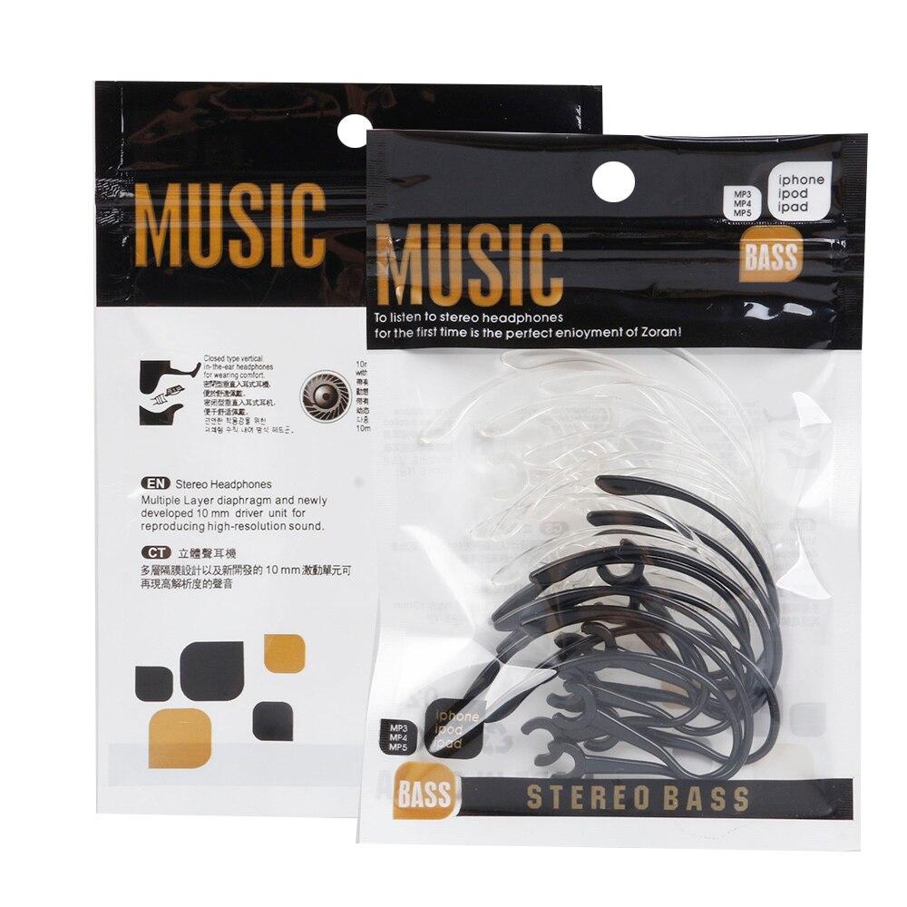 10pcs 6mm Bluetooth Headphones Accessories Ear Hook Loop Clip Headset Earhook Black Replacement Earhook Earloop Clip