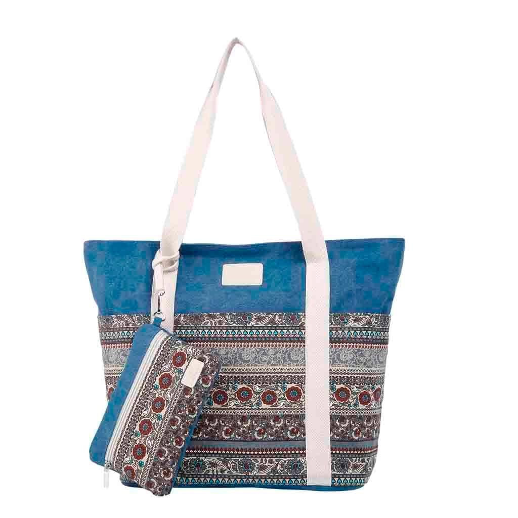 Woman Bag Leisure Shopping Travel Canvas Large Shoulder Bag Printing Handbag Bolso Mujer #K30