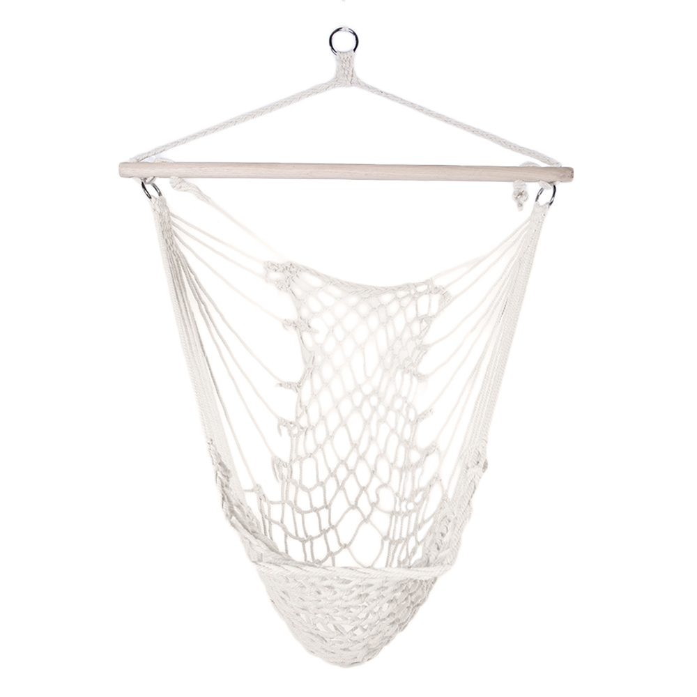 Hot Sale Outdoor Hammock Chair Hanging Chairs Swing Cotton Rope Net Swing Cradles Kids Adults Outdoor Indoor Garden Dormitory chair outdoor garden hammock net indoor hanging chair