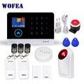 Беспроводная охранная сигнализация Wofea  Wi-Fi  GSM  для домашнего бизнеса  управление через приложение  сирена  RFID  детектор движения  пассивный ...