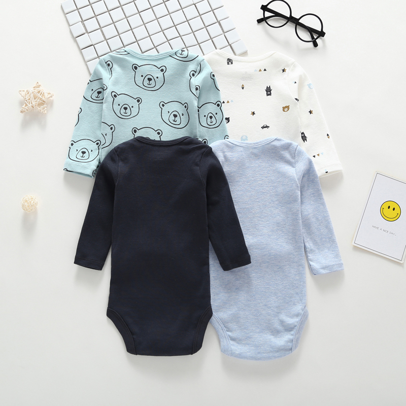 Image 4 - long sleeve cartoon bear bodysuit for baby boy girl clothes cotton unisex newborn body Infant bodysuits 2019 fashion costume-in Bodysuits from Mother & Kids