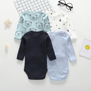 Image 4 - long sleeve cartoon bear bodysuit for baby boy girl clothes cotton unisex newborn body Infant bodysuits 2020 fashion costume
