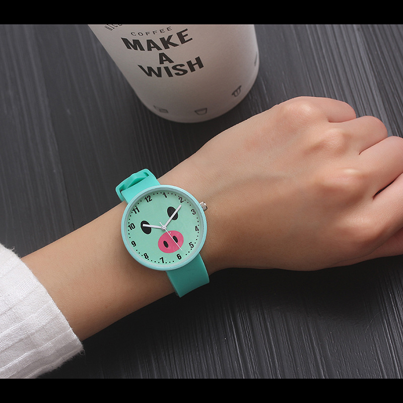 Dress Quartz WristWatch Kids Fashion Cute Pig Wrist Watches Children Watch Silicone Hours Gift For Girls Boys Relogio Infantil