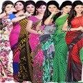 La Mujer India de Bollywood Sari Sari Kaftan Vestido Ropa Sari Indio