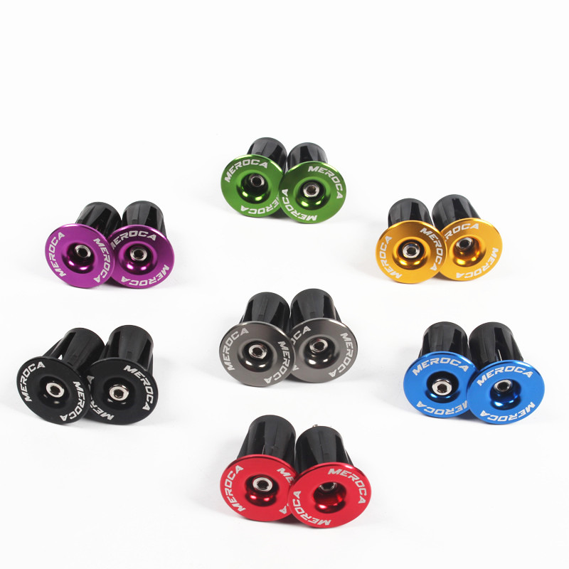 Color aluminum alloy mountain bike MTB inflated lock to plug the road bike handle expansion plug bicycle handlebar end cap