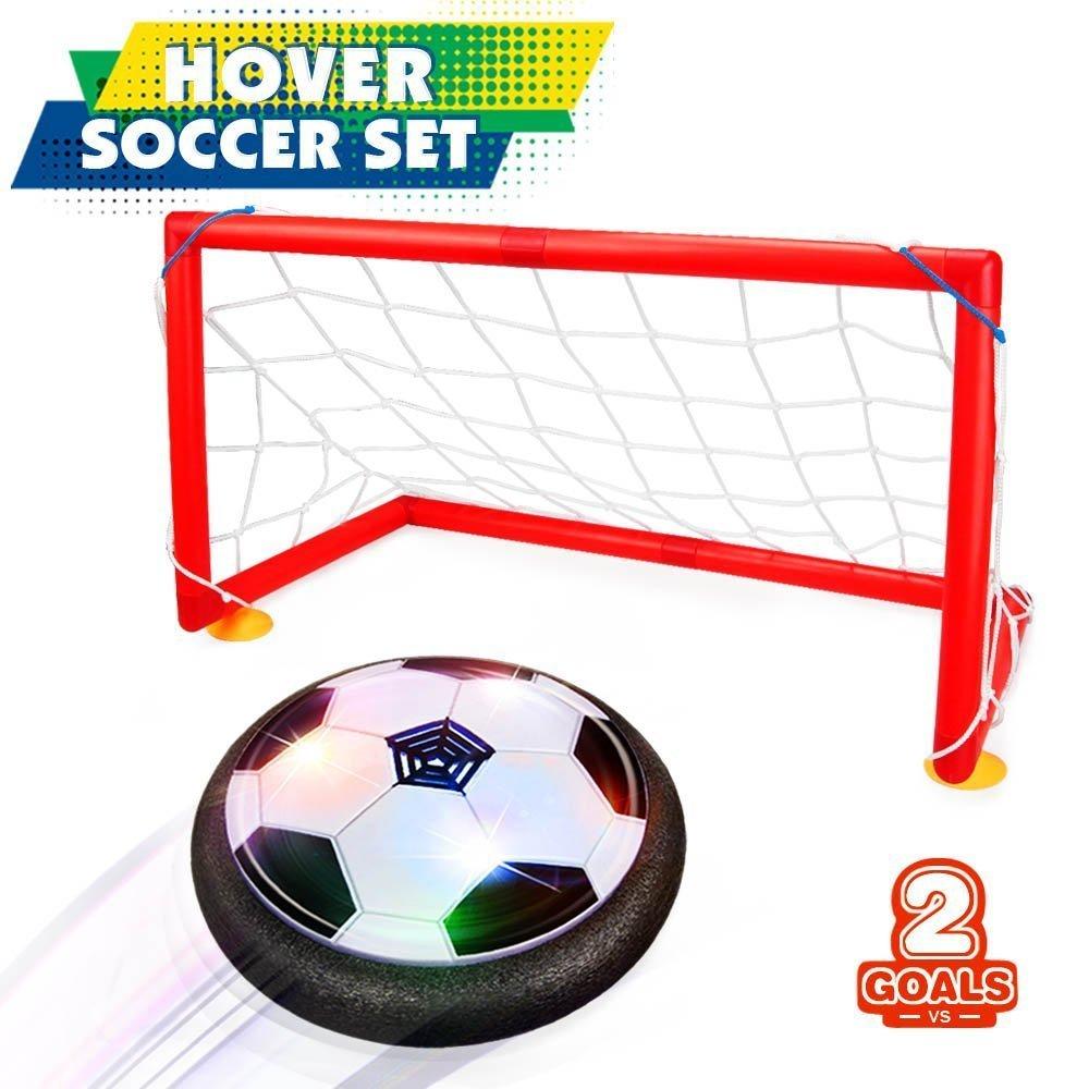 1 unid envío gratis juguetes de los niños Hover pelota de fútbol conjunto con 2 de los objetivos de los niños de interior deporte al aire libre juego de juguetes con venta al por menor paquete # TC