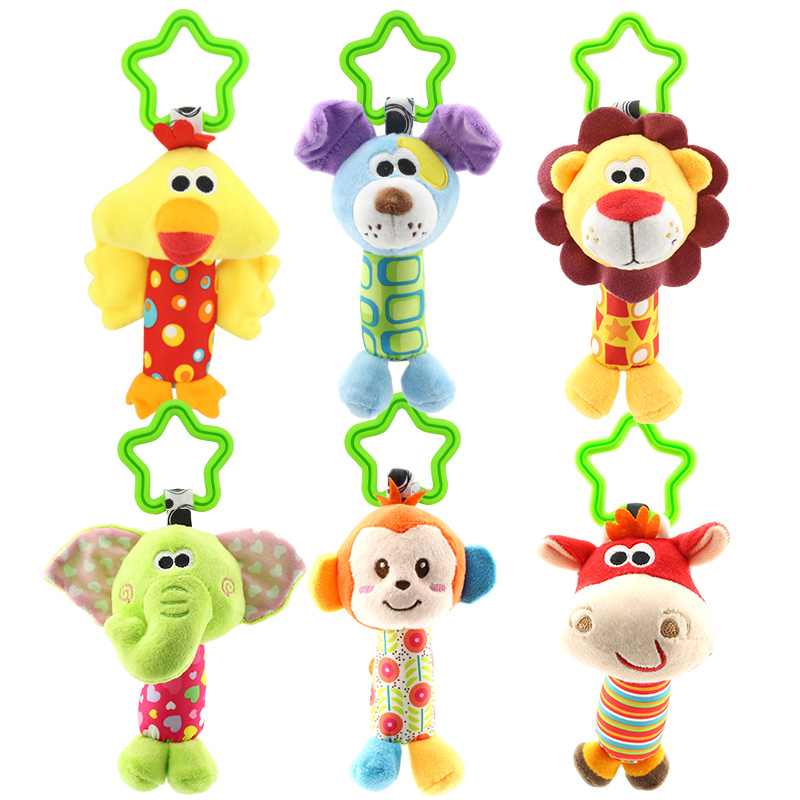 Animal Crib Musical Mobile Baby Plush Toy Infant Hanging Toys For Car Baby Bed Toy Music Newborn Baby Soft Toys Brinquedos Bebe