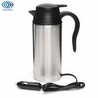 Stainless Steel 12V Electric Kettle 750ml In Car Travel Trip Coffee Tea Heated Mug Motor Hot