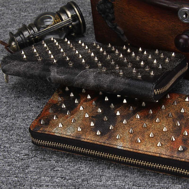 Модная обувь из натуральной кожи кошелек Для женщин с длинной застежкой-молнией вокруг бумажника сотового телефона уникальный дизайн женский клатч-кошелек с отделением для монет