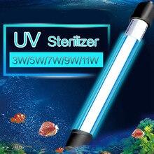 5/7/9/11/13 W Aquarium Lamp UV Sterilizer Light Submersible Waterproof Germicidal Disinfection for Fish Tank