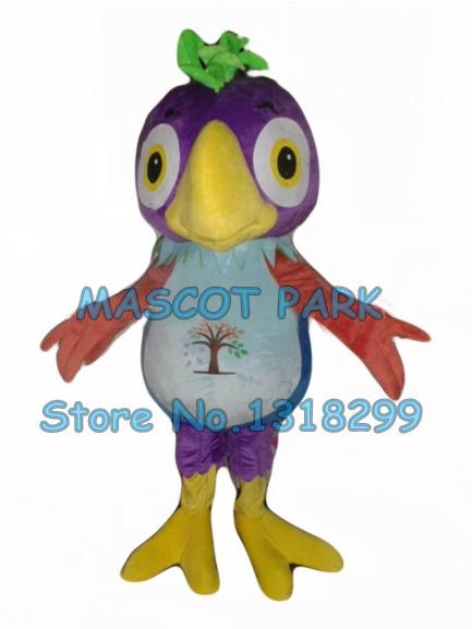 Фиолетовый попугай костюм талисмана оптовая взрослый размер мультфильм попугай ара птица тема аниме cosply карнавальные костюмы 2828