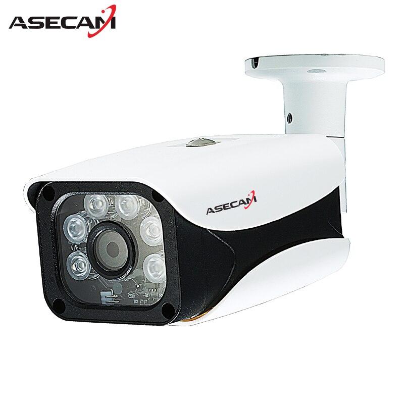 Novo HD 1080 P Câmera H.265 IP Onvif IMX323 Bala À Prova D' Água CCTV Ao Ar Livre 48 V PoE Rede Matriz 6 * LED IR de Segurança câmera