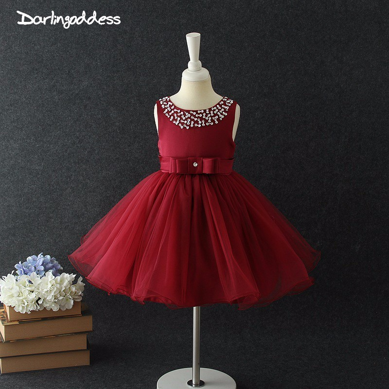 2018   Flower     Girls     Dresses   for Weddings Baby Formal Party Tutu   Dress   Children Images   Dress   Kids Prom   Dresses   Evening Gowns