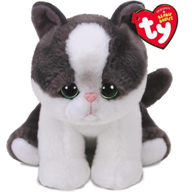 Pyoopeo Ty Beanie Babies 6 15cm Yang The Black White Cat Plush