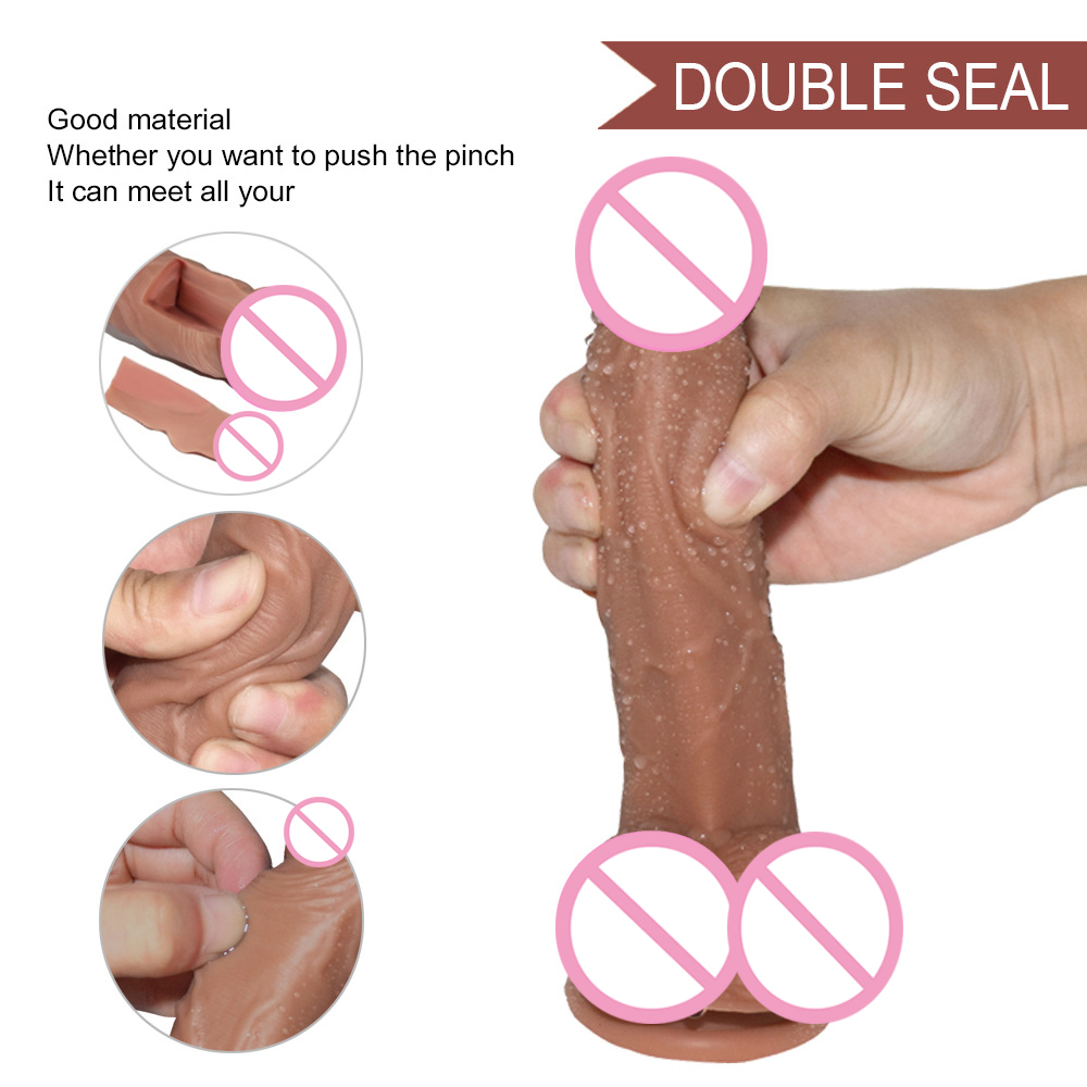 Silicone huge font b dildo b font suction cup soft realistic rubber penis female adult sex