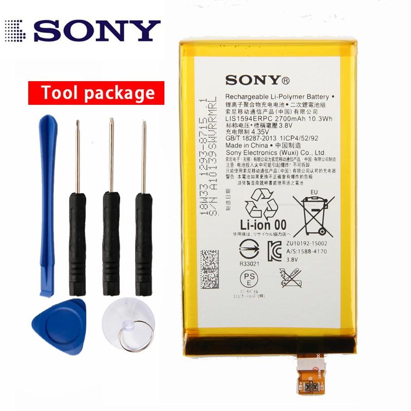 Original Sony de alta capacidad de la batería del teléfono para Sony Xperia Z5 compacto Z5mini Z5 Mini E5823 E5803 LIS1594ERPC 2700 Mah