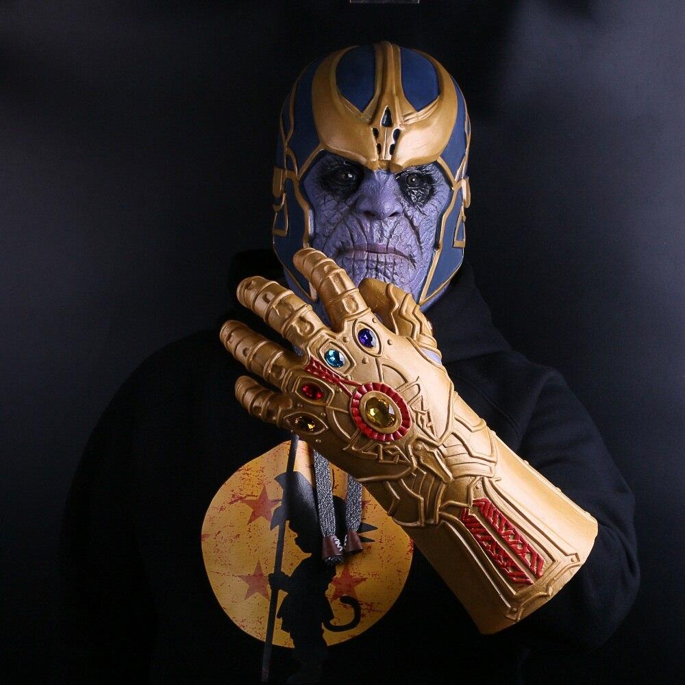 The Avengers Thanos Infinity Gauntlet Cosplay Gloves Prop Halloween Hard Latex Avengers: Infinity War Mask