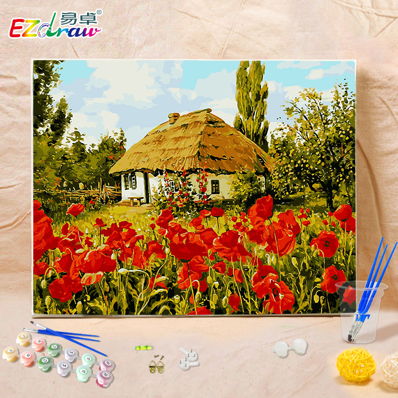 The frameless pictures painting by numbers digital oil for Unusual gifts home
