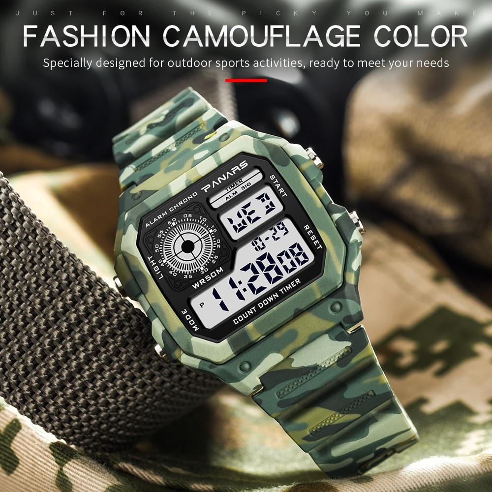 000e45cef1e Camuflagem Digital Militar-Choque relógio G Estilo Dos Esportes Da Forma  dos homens Do Exército