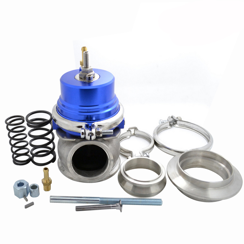 60mm Wastegate Turbo External Kit With V-band Flange & Clamp 6 Colors Universal Turbo External Waste Gate For Turbo Manifold